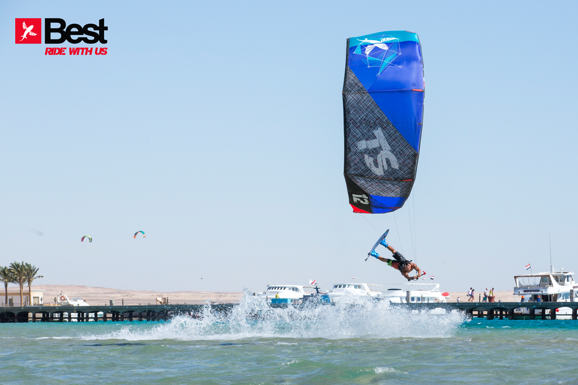 Alexandre Neto with a cool raily on the 2015 Best Kiteboarding TS kite