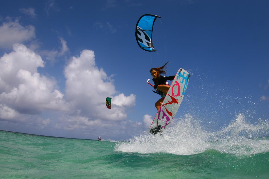 Kiteboarding Wallpaper: F-One Kiteboarding Wallpaper: Celine Rodenas Backroll With