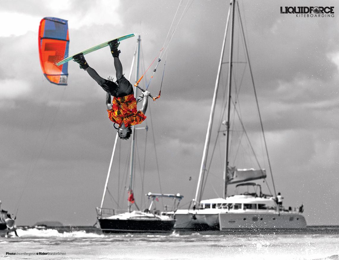 Brandon Scheid with a tropical slim chance on 2015 Liquid Force gear
