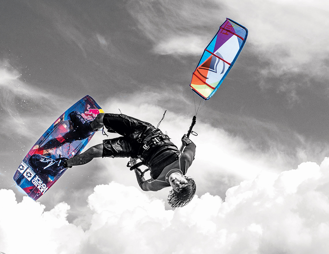 Cristophe Tack inverted handle pass on the 2015 Liquid Force HIFI X