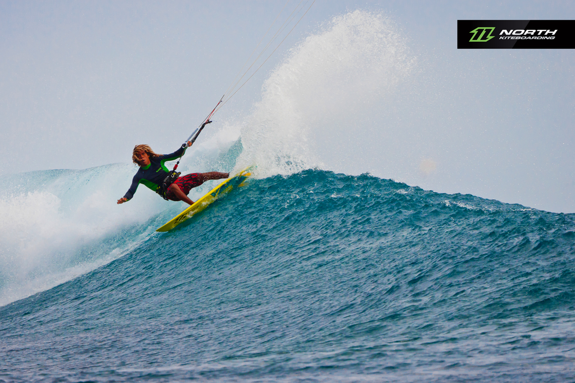 Airton Cozzolino ripping on a wave - North Kiteboarding