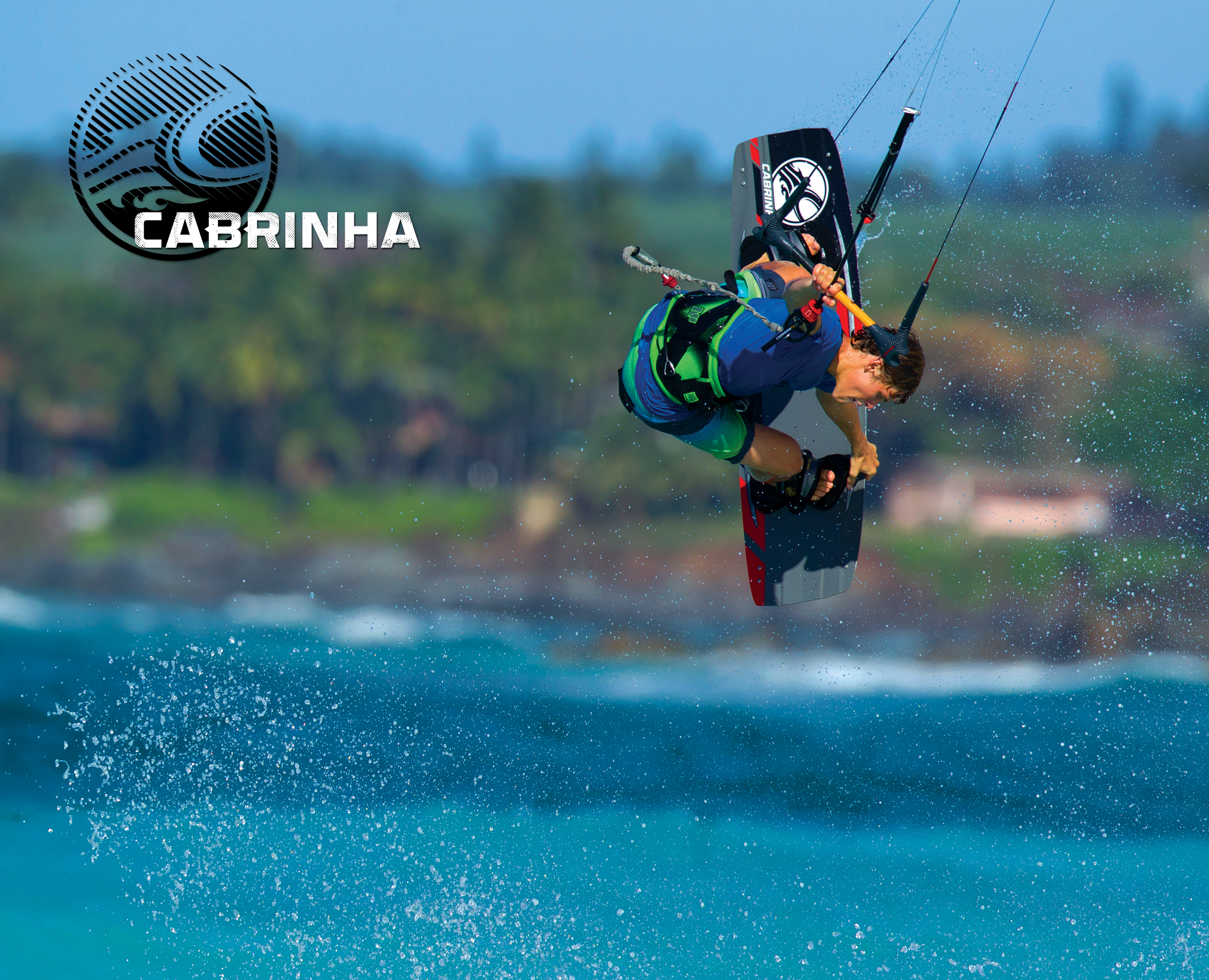 kitesurf wallpaper image - Liam Whaley on the 2015 Cabrinha Ace twintip with a nice board grab. - in resolution: Original 2658 X 2156