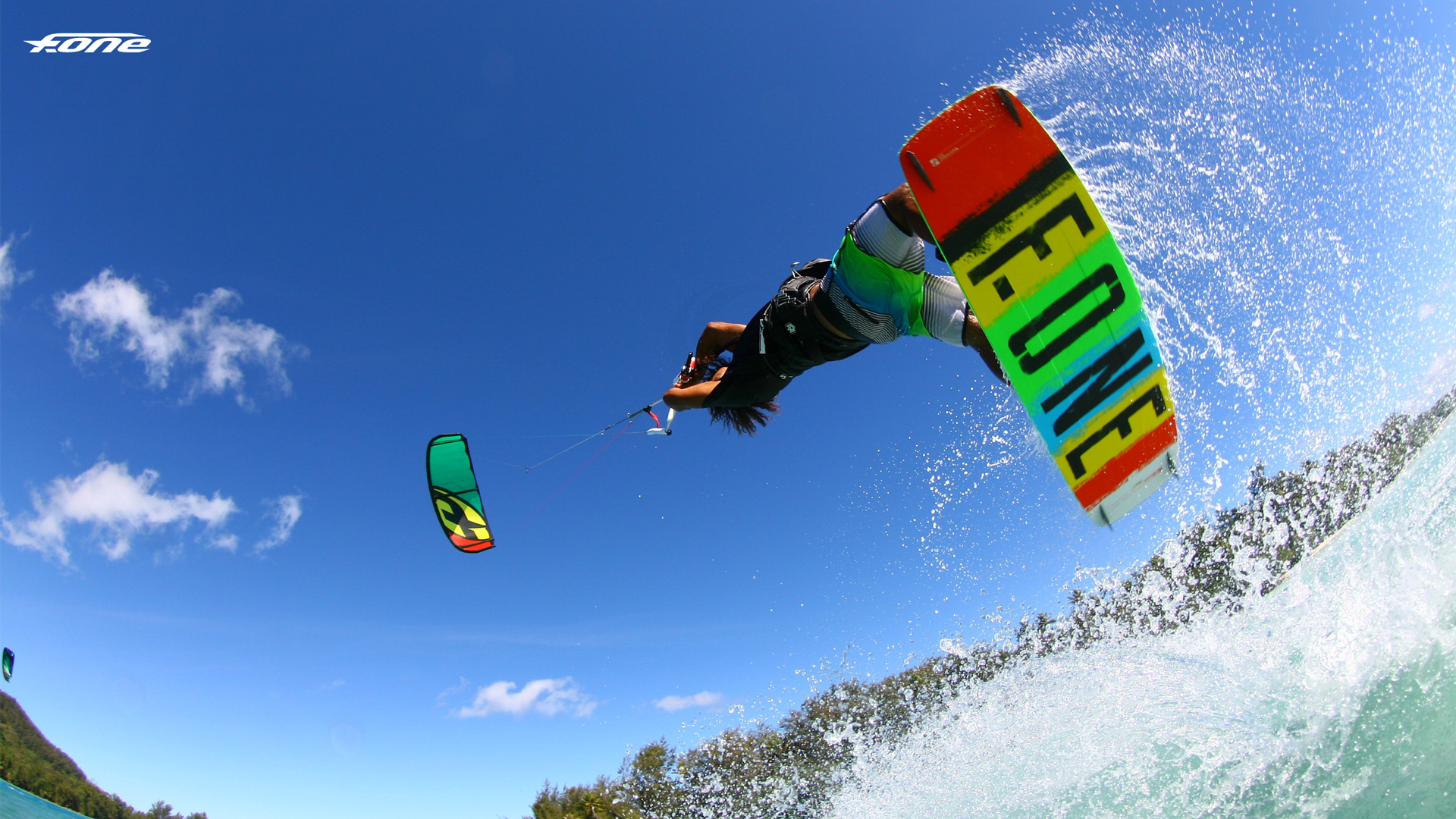 kitesurf wallpaper image - Jump on the 2015 F-One Acid HRD Carbon series kiteboard and bandit kite.  - in resolution: High Definition - HD 16:9 1920 X 1080