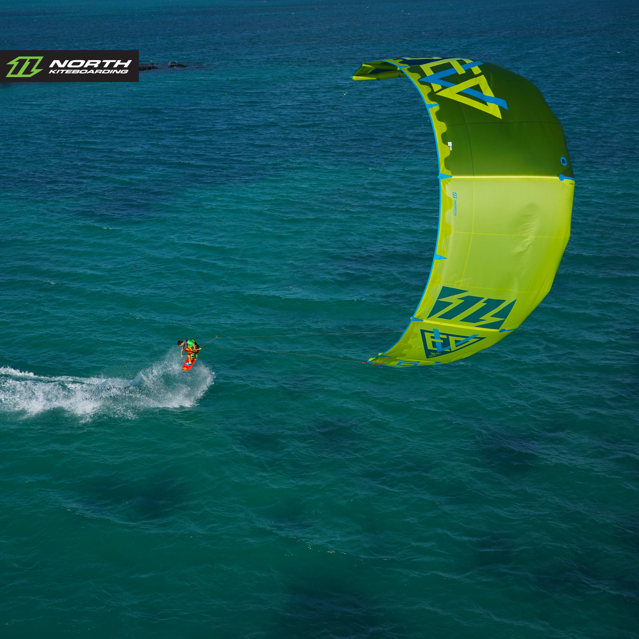 kitesurf wallpaper image - The 2015 North Evo as seen from above - kitesurfing - in resolution: iPad 2 & 3 2048 X 2048