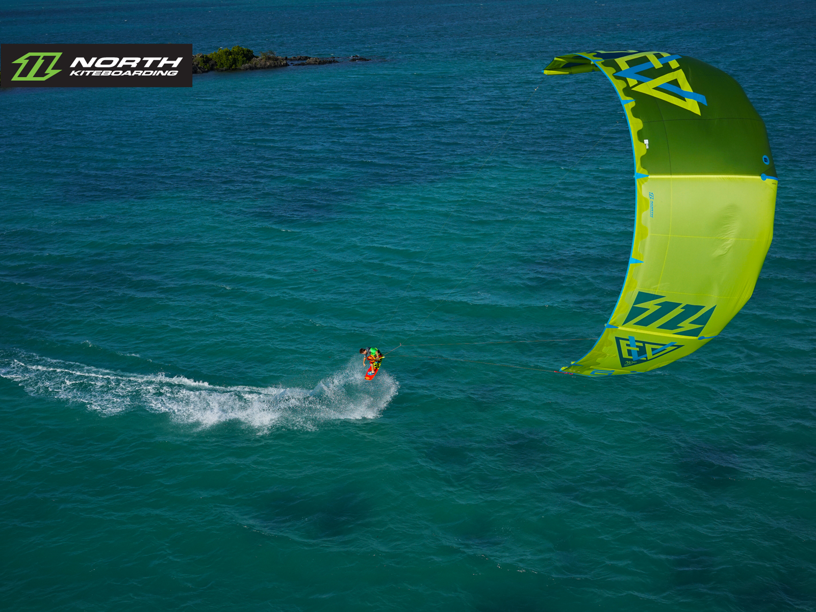 kitesurf wallpaper image - The 2015 North Evo as seen from above - kitesurfing - in resolution: Standard 4:3 1600 X 1200