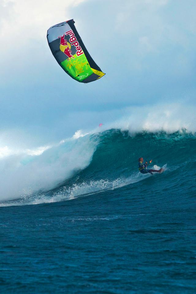 kite surfing iphone wallpaper