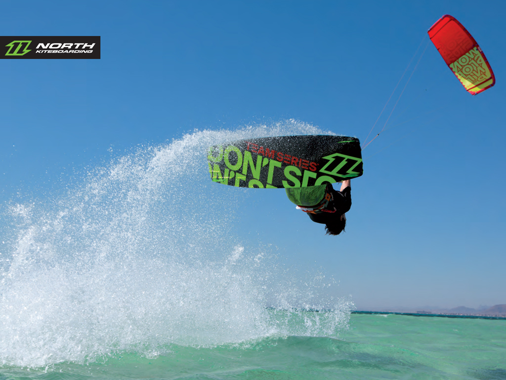 kitesurf wallpaper image - The 2015 North Vegas and team series board on holiday in the tropics - kitesurfing - in resolution: iPad 1 1024 X 768
