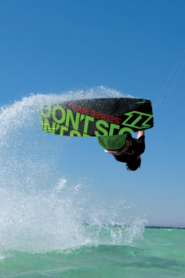 kitesurf wallpaper image - The 2015 North Vegas and team series board on holiday in the tropics - kitesurfing - in resolution: iPhone 640 X 960