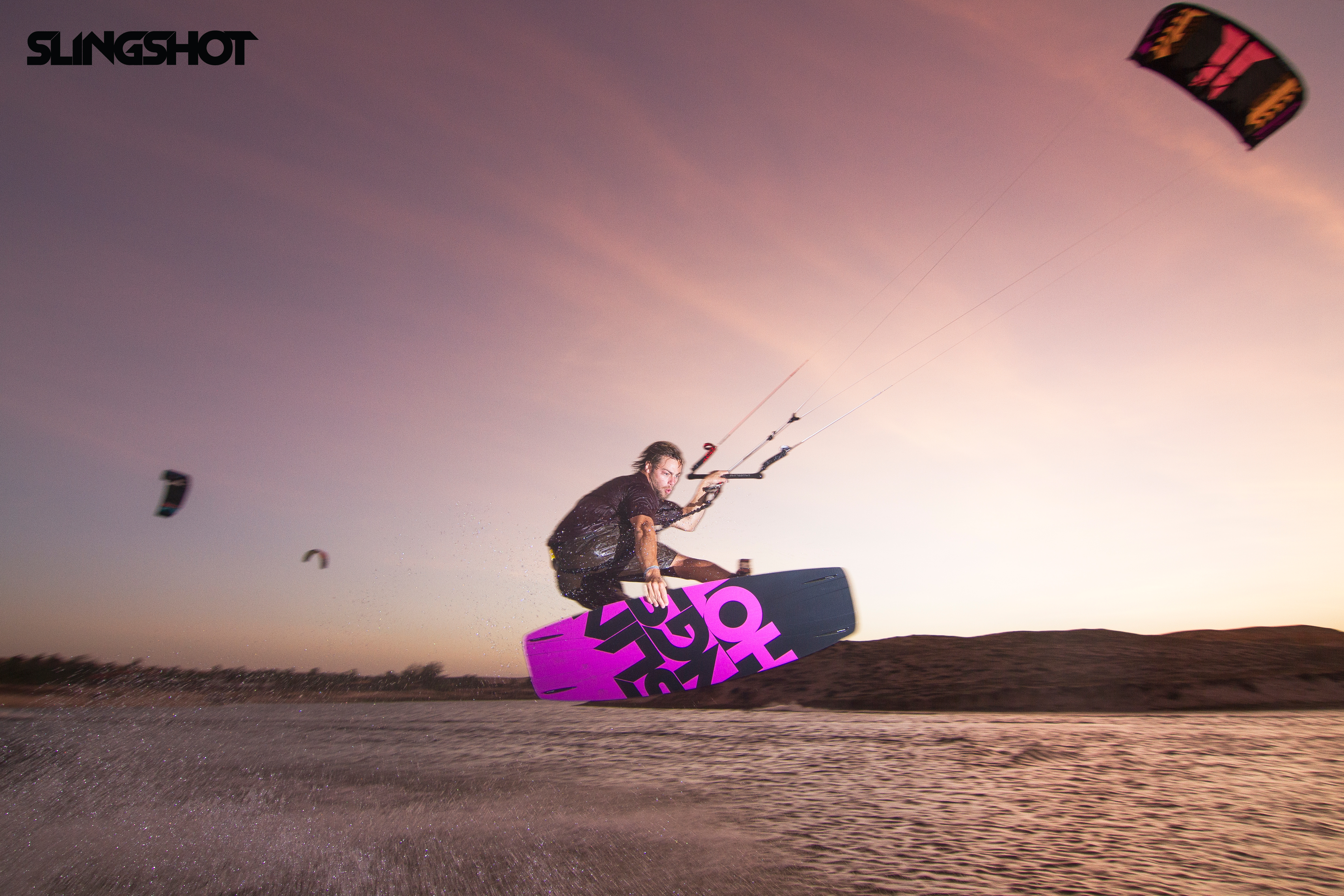 kitesurf wallpaper image - Grabbing some rail on the 2015 Slingshot Asylum board and flying the RPM kite. - in resolution: Original 4984 X 3323