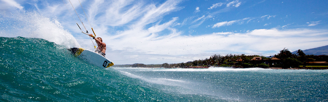 Wave kitesurfing photo
