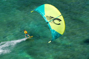 Kitesurfing  on the 2015 Cabrinha Contra kite