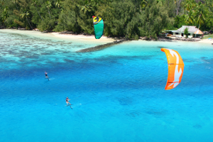Cruising on the foilboards with the 2015 F-One Bandit - kitesurfing in tropical waters