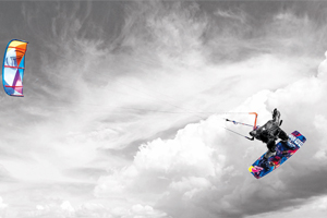 Christophe Tack on the 2015 Liquid Force HIFI-X kite and element kiteboard during a handle pass