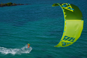 The 2015 North Evo as seen from above - kitesurfing
